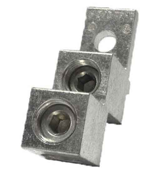 2/0TP-2. STACKER TYPE WIRE LUG, 2/0 AWG Double wire lug 2/0AWG - 14AWG, Stacker type