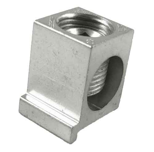 BTP350 350 kcmil Box or Collar connector lug with 1/4-20 threaded mounting hole and Turn Prevent rib 350kcmil -6AWG