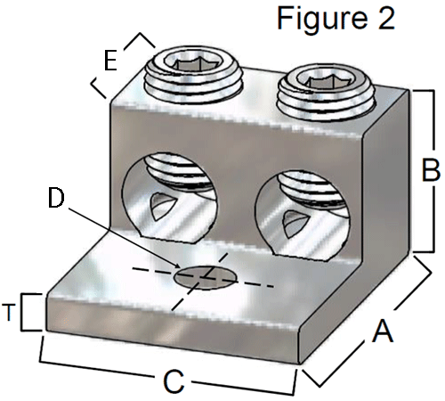 Buy triple wire lugs 3 wires per lug at lugsdirect dimensions diagram greentooth Images