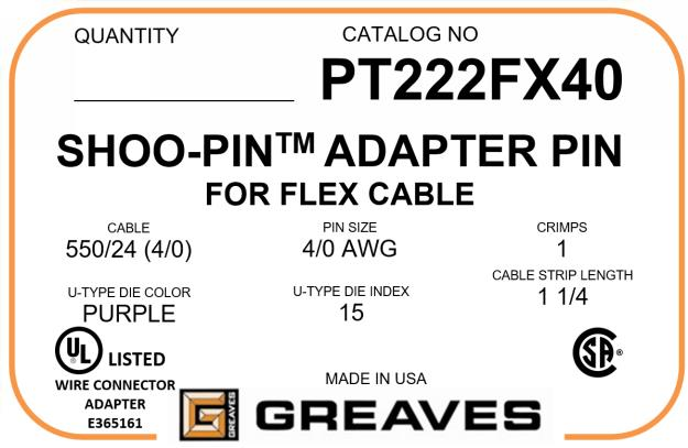 4/0 AWG Flex Cable Adapters \