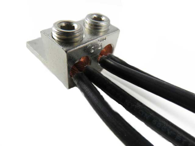 2S1/0-HEX 1/0 AWG Double wire lug  4 wire application 1/0-14 AWG