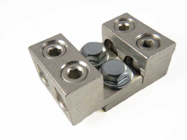 2S2/0-31-42-HEX 2/0 AWG double wire lug 2/0-14 AWG, hex screw, dual stacking, nesting, interlocking lugs