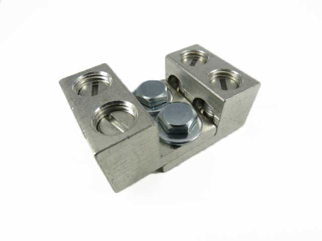 2S2/0-31-42 2/0 AWG Double wire lug dual stacking, nesting, interlocking lugs four wire application 2/0-14 AWG