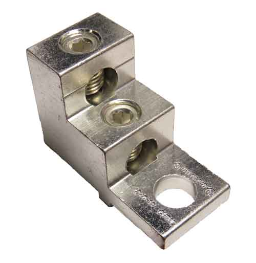 """IHI 2pcs /""""2S2//0/"""" Dual Rated Double Wire Mechanical Lug 2//0 AWG"""