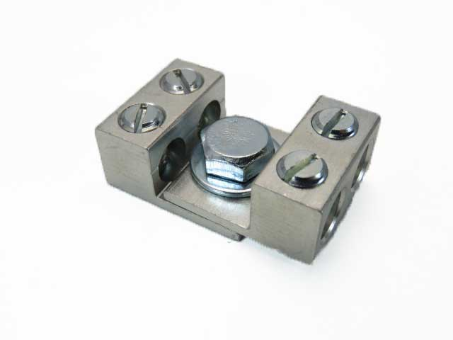 2S2, 2 AWG Double wire lug dual stacking, nesting, interlocking lugs four wire application 2-14 AWG
