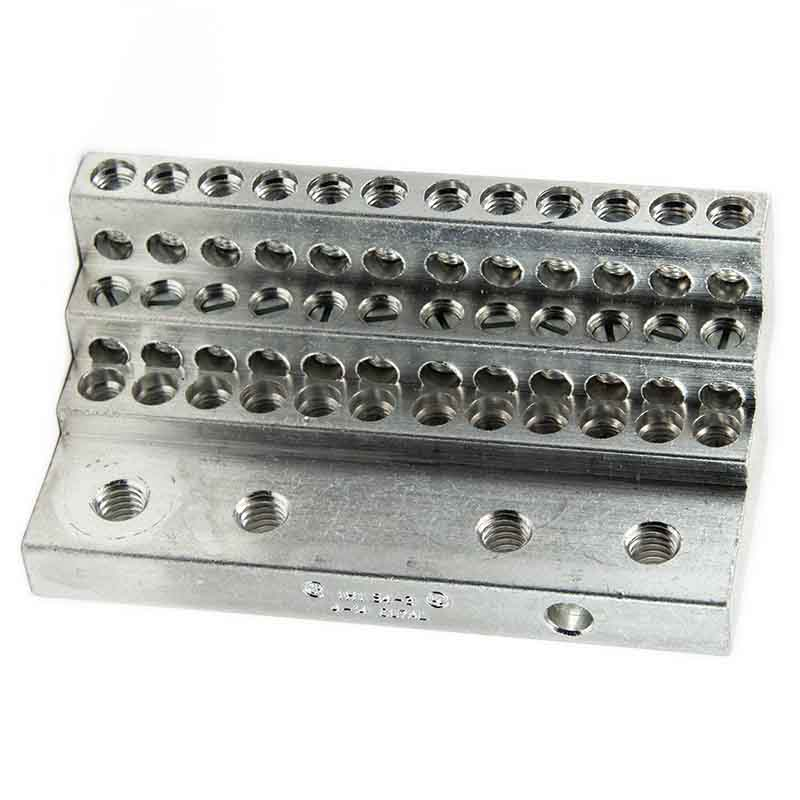 36S4-3, 4 AWG 36 WIRE HOLES, 4AWG - 14AWG, stacker type, tiered lug, vertical lug, step lug