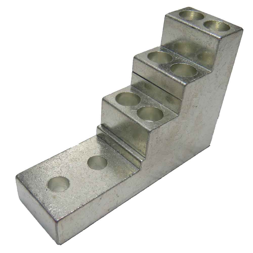 66S-4 multi wire multi barrel lug, stacker type, tiered lug, vertical lug, step lug