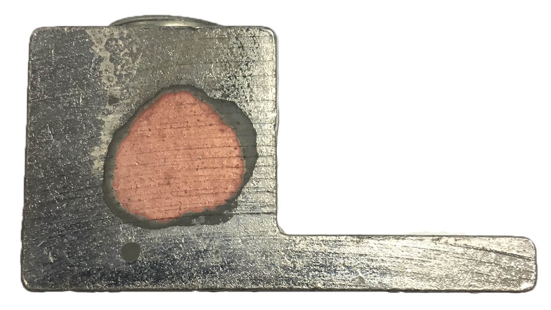copper plate between aluminum body and tin plate