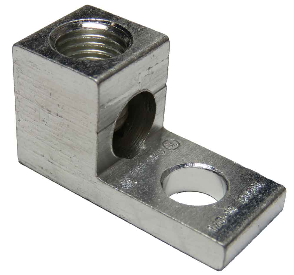 "S1/0-34-41 Single wire lug, 1/0 AWg - 14 AWG, 1/4"" bolt mounting hole 1/0 AWG"