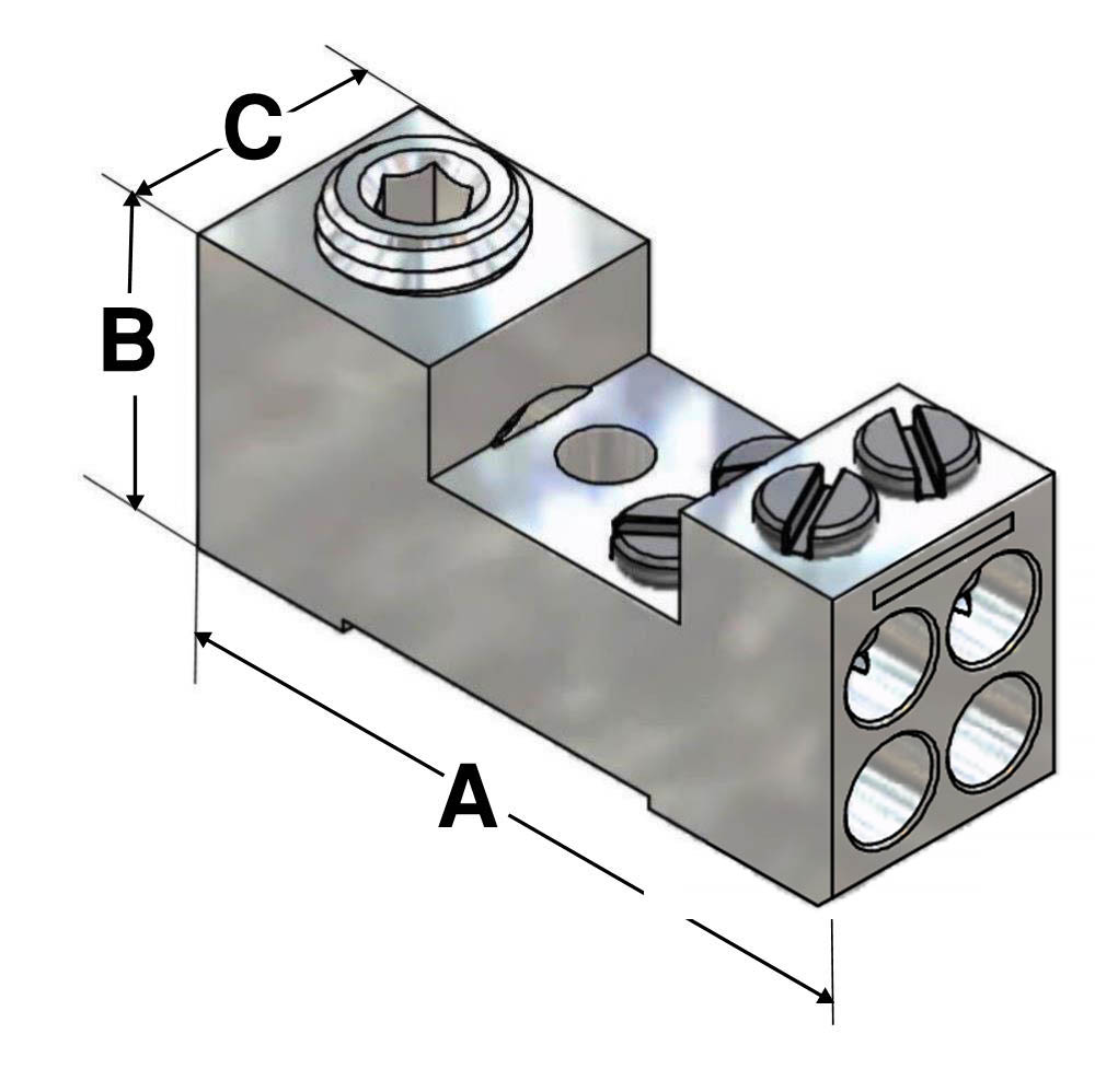 Buy Multi Wire Lugs 4 Or More Wires Per Lug At Diagram Dimensions