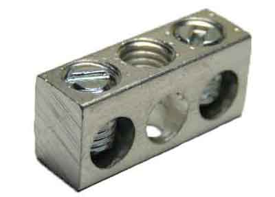 4-3,2 4-14 AWG, 2 Circuit 1 Mounting Hole Neutral Ground Bar 4-14 AWG