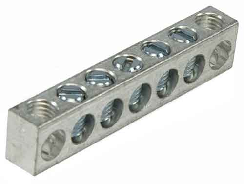 4-7,1,7 5 Circuit 2 Mounting Holes Neutral Ground Bar 4-14 AWG