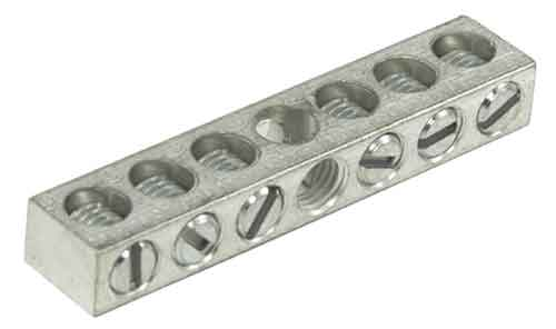 4-7,4 4-14 AWG, 6 Circuit 1 Mounting Hole Neutral Ground Bar